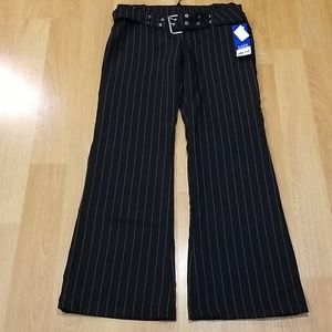 Black pin stripe pant with removable belt size 10